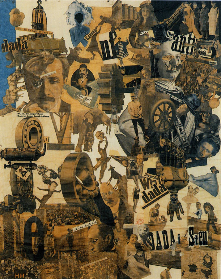 "Hannah Höch. German, 1889-1978 Cut with the Kitchen Knife through the Last Weimar Beer-Belly Cultural Epoch in Germany (Schnitt mit dem Küchenmesser durch die letzte Weimarer Bierbauchkulturepoche Deutschlands). 1919-1920 Photomontage and collage with watercolor, 44 7/8 x 35 7/16"" (114 x 90 cm) Staatliche Museen zu Berlin, Nationalgalerie © 2006 Bildarchiv Preussischer Kulturbesitz, Berlin, © 2006 Hannah Höch / Artists Rights Society (ARS), New York / VG Bild-Kunst, Bonn, photo: Jörg P. Anders, Berlin"